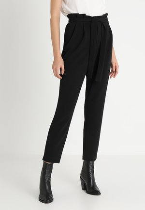 ONLFLORENCE WAFFLE PANT - Pantalon classique - black