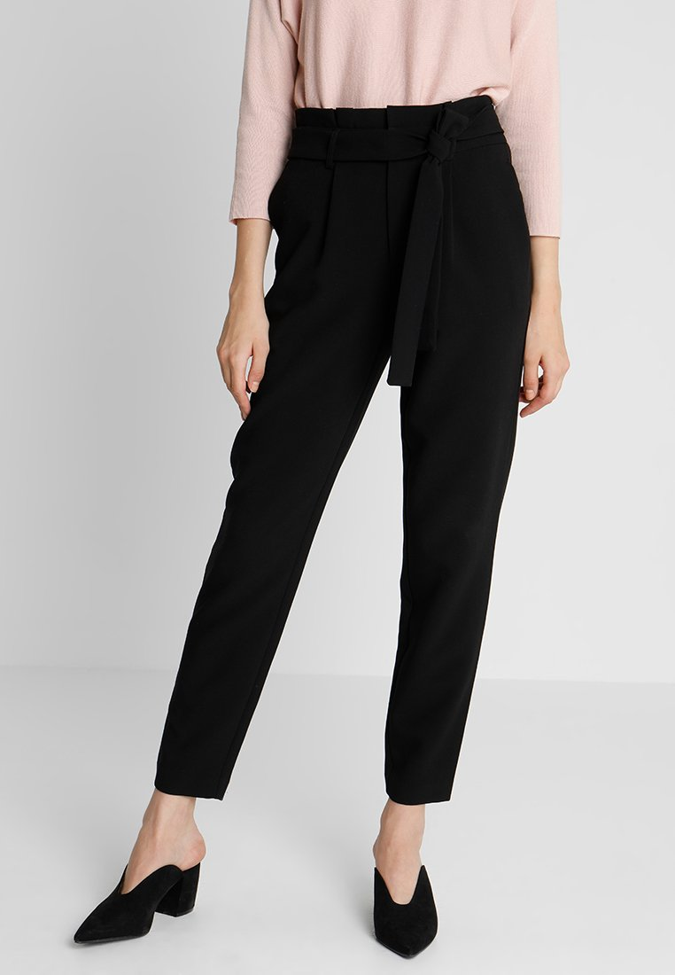 ONLY - ONLPRETTY GIRL PAPERBACK PANT - Trousers - black