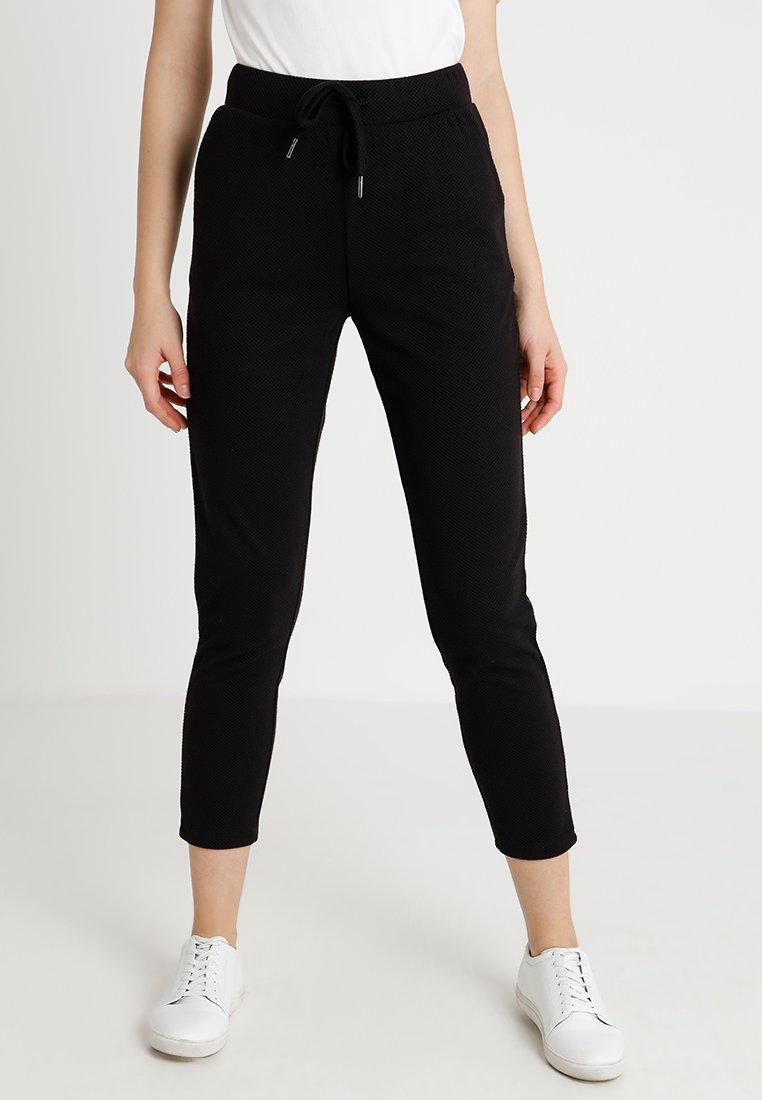 ONLY - ONLLILLI PANTS - Stoffhose - dark grey melange/black