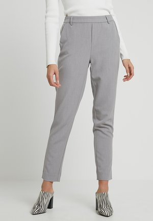 ONLCOOL ANKLE PANT - Pantaloni - light grey melange/white