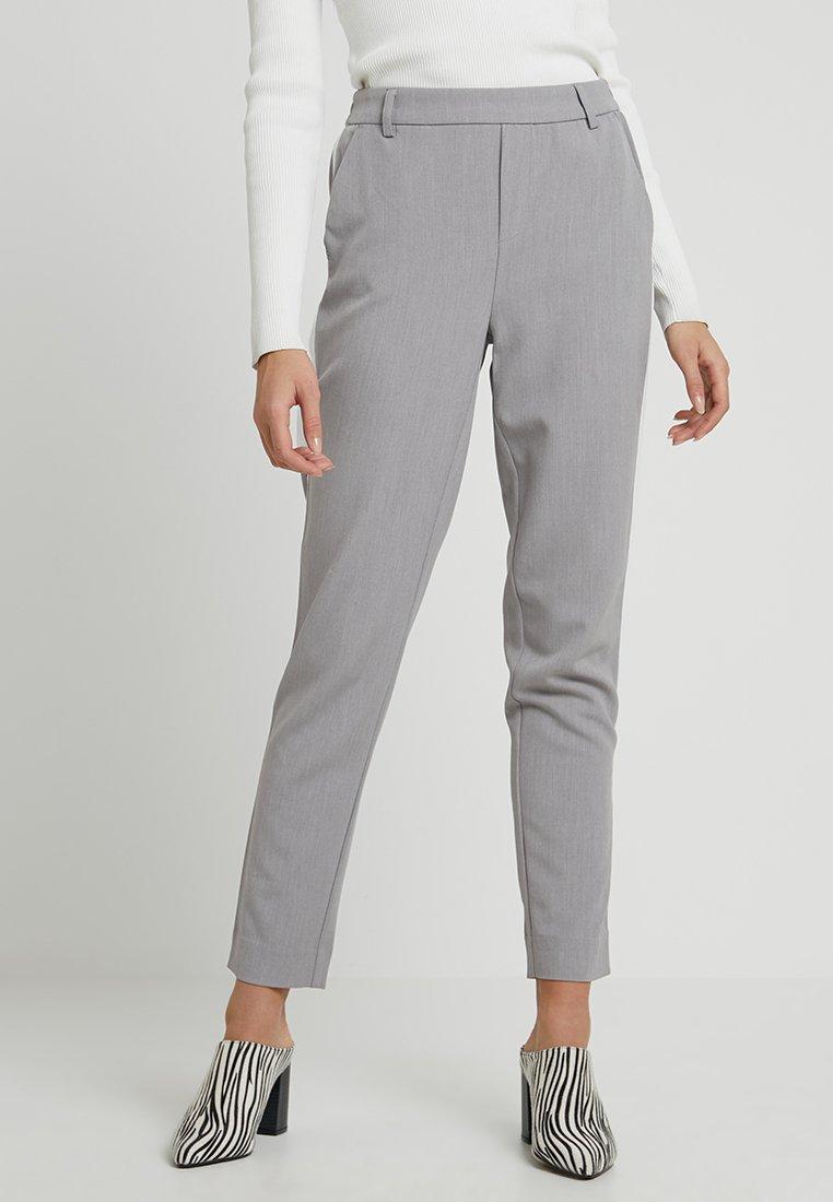 ONLY - ONLCOOL ANKLE PANT - Pantaloni - light grey melange/white