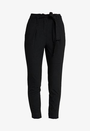 ONLMICOL PAPERBAG ANKLE PANTS - Pantaloni - dark grey melange