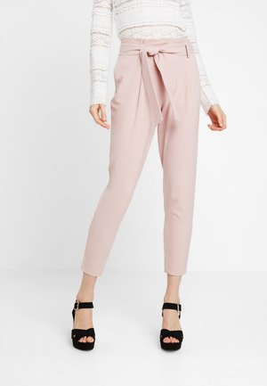 ONLFINI PAPERBAG ANKLE PANT - Trousers - misty rose
