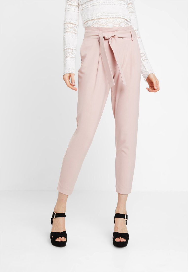 ONLY - ONLFINI PAPERBAG ANKLE PANT - Trousers - misty rose