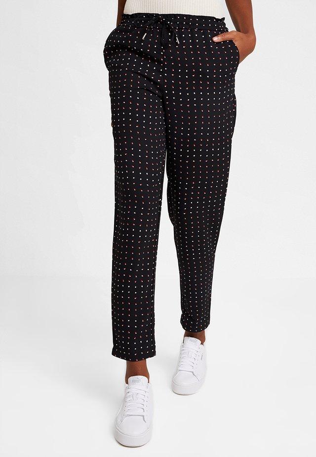 ONYMICHELLE PULL UP PANTS  - Pantalones - black/white