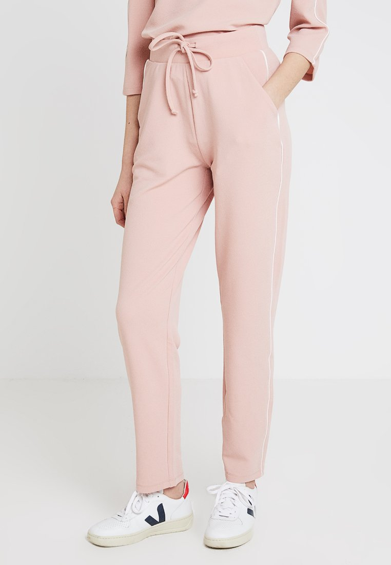 ONLY - ONLRAMONA PIPING PANT - Bukse - misty rose/cloud dancer