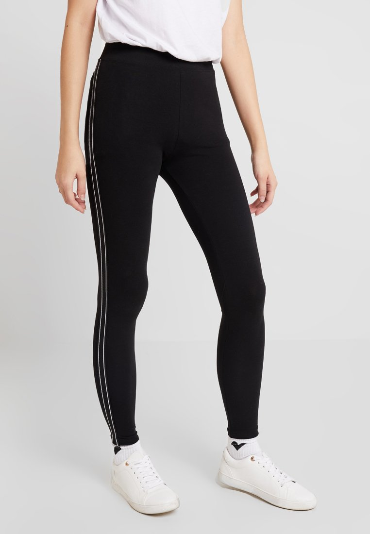 ONLY - ONLLIVE LOVE PANEL LEGGINGS - Leggings - Trousers - black/white