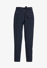 ONLY - ONLANNYA PINSTRIPE BELT PANTS - Stoffhose - night sky/cloud dancer - 4