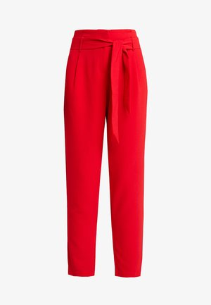 ONLRUNA PAPERBAG PANT - Pantalones - goji berry