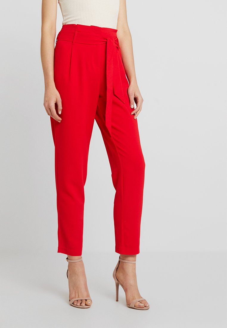 ONLY - ONLRUNA PAPERBAG PANT - Stoffhose - goji berry