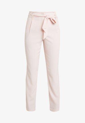 ONLRUNA PAPERBAG PANT - Spodnie materiałowe - rose smoke