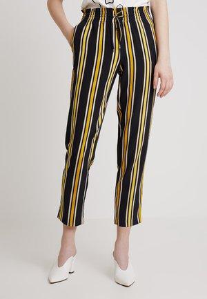 ONLMICHELLE PULL-UP PANTS - Spodnie materiałowe - blue graphite/golden yellow/lemon