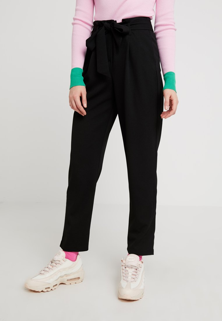 ONLY - ONLLOTTE BELT PANT - Trousers - black