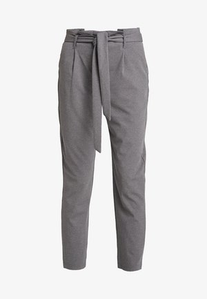 ONLLOTTA BELT PANT - Broek - dark grey melange