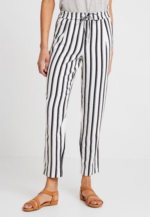 ONLPIPER PULL UP PANTS - Trousers - cloud dancer/black