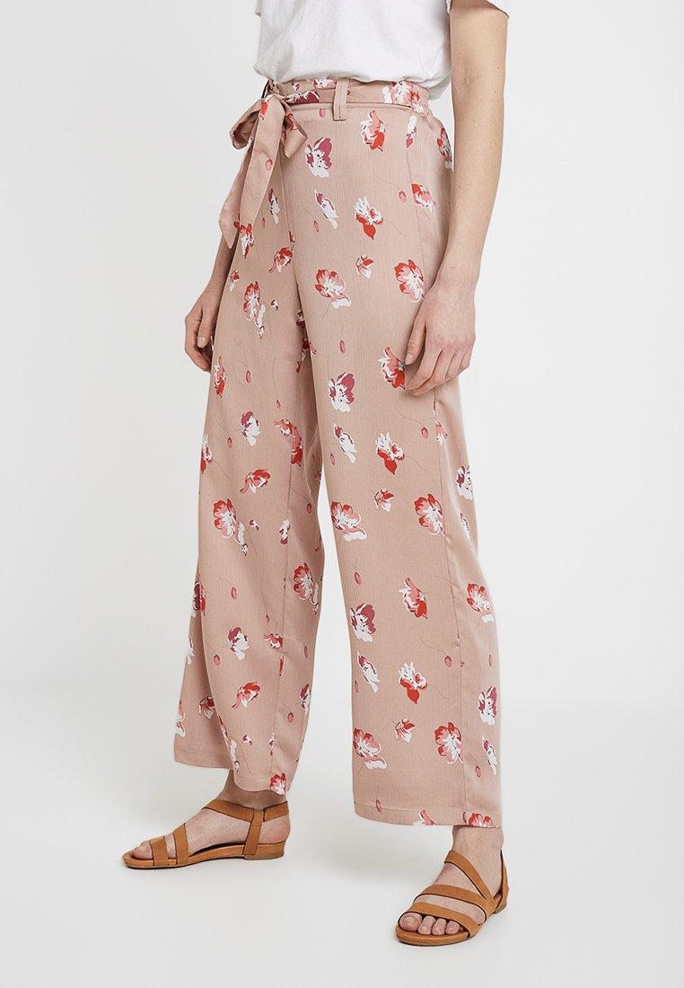 ONLY - ONLGIZA PALAZZO PANTS - Pantaloni - adobe rose