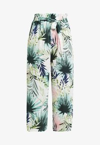 ONLY - ONLTROPICAL PAPERBAG CROPPED PANT - Stoffhose - cloud dancer - 3