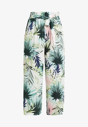 ONLTROPICAL PAPERBAG CROPPED PANT - Kalhoty - cloud dancer