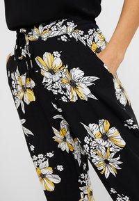ONLY - ONLNOVA PANT - Trousers - black/yellow - 3