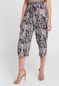 ONLY - ONLNOVA CROPPED PALAZZO PANT  - Pantalones - black - 0