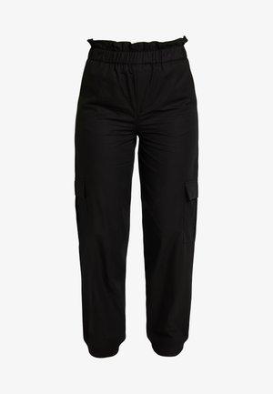 ONLLENE CARGO LONG PANT - Spodnie materiałowe - black