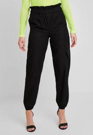 ONLLENE CARGO LONG PANT - Pantalon classique - black