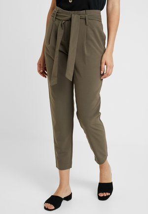 ONYTINI PAPERBAG PANTS - Trousers - dark green