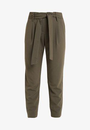 ONYTINI PAPERBAG PANTS - Pantalon classique - dark green