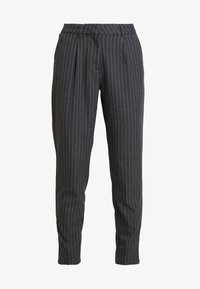 ONLY - ONLKELIA PINSTRIPE PANT - Pantalon classique - dark grey melange - 4