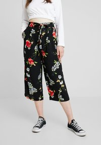 ONLY - ONLJEAN CROPPED PANTS - Trousers - black - 0