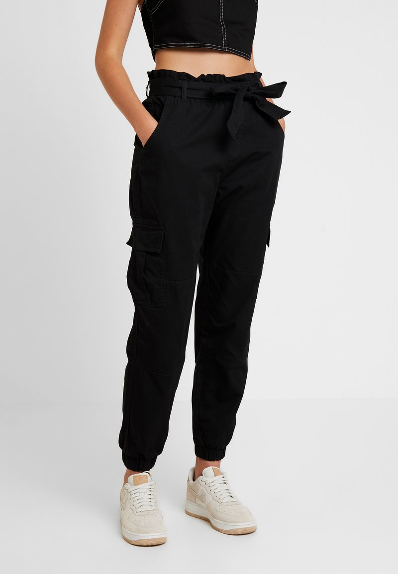 ONLY - ONLMILES ANCLE PAPERBAG PANT - Trousers - black