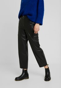 ONLY - ONLHANNAH WIDE FIT PANTS - Trousers - black - 0