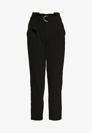 ONLRUNA LILI BELT PANT - Broek - black