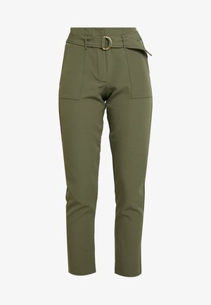 ONLFRESHY GLOWING BELT PANT - Trousers - ivy green