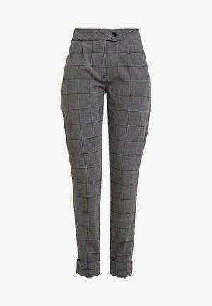 ONLMONIZ CHECK PANT - Spodnie materiałowe - medium grey melange