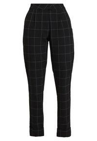 ONLY - ONLMONIZ CHECK PANT - Pantaloni - black - 0