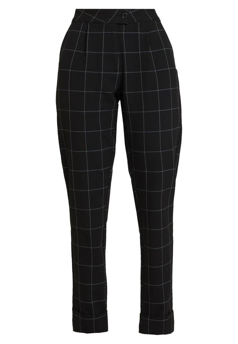 ONLY - ONLMONIZ CHECK PANT - Pantaloni - black