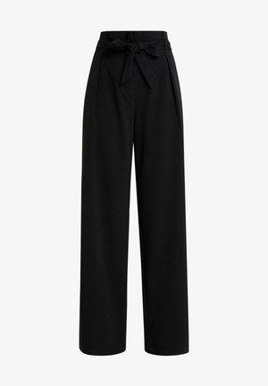 ONLSICA WIDE PANTS - Pantalon classique - black