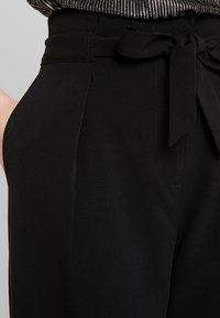 ONLY - ONLSICA WIDE PANTS - Kangashousut - black - 5