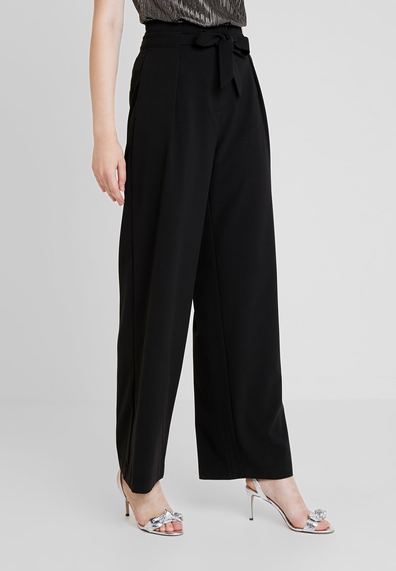 ONLY - ONLSICA WIDE PANTS - Trousers - black