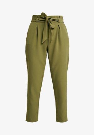 ONLFRESH PAPERBACK PANT - Spodnie materiałowe - martini olive