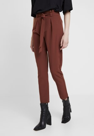 ONLFRESH PAPERBACK PANT - Pantalon classique - golden brown