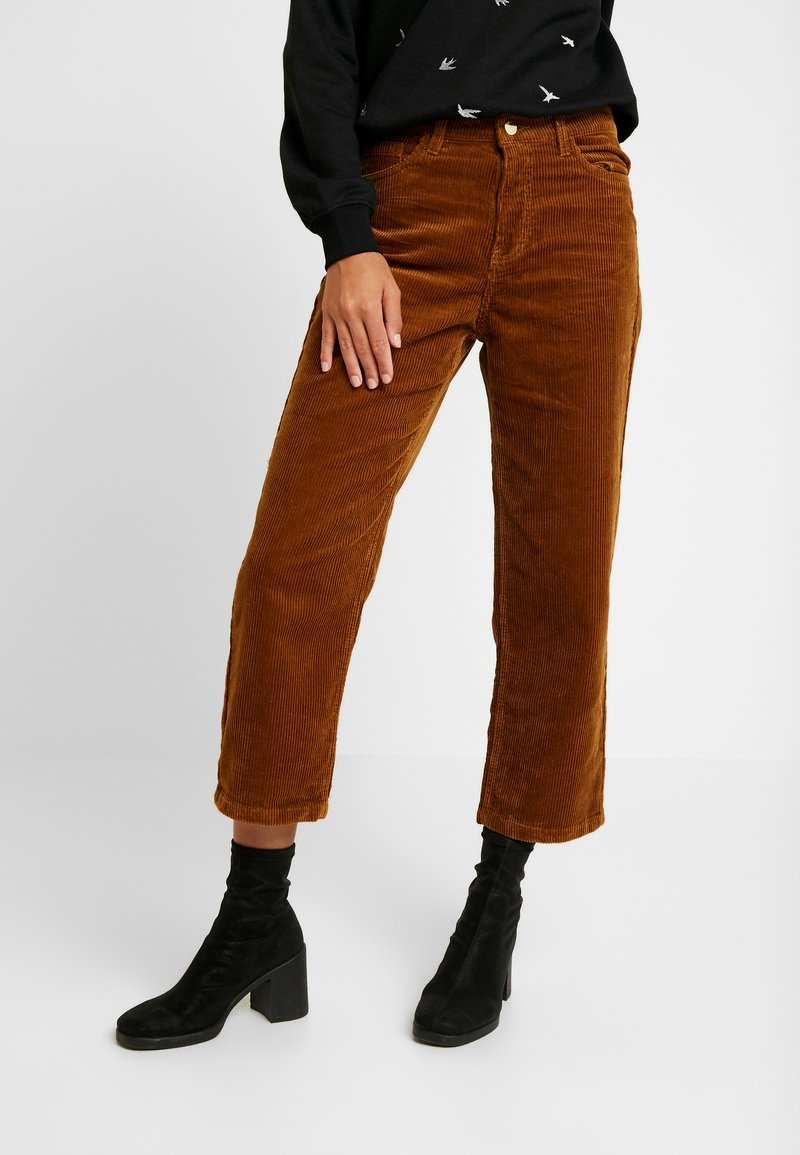 ONLY - ONLBITTEN MID PANT - Kalhoty - rubber