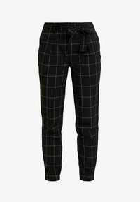 ONLY - ONLNICOLE PAPERBACK BELT CHECK PANT - Bukse - black - 4