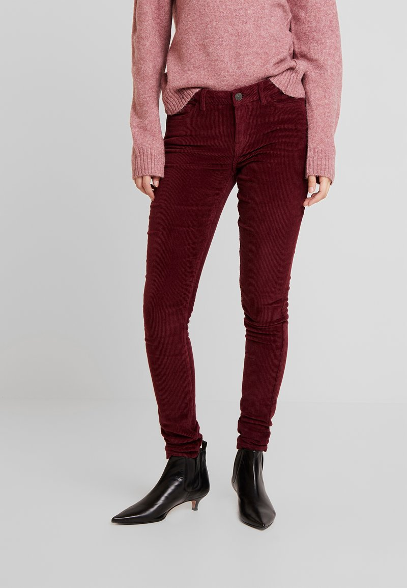 ONLY - ONLCARMEN GLOBAL PANT - Trousers - tawny port