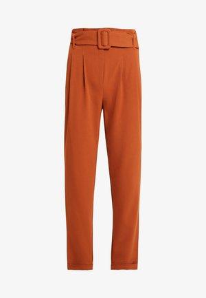 ONLSICA PAPERBAG PANTS - Spodnie materiałowe - ginger bread