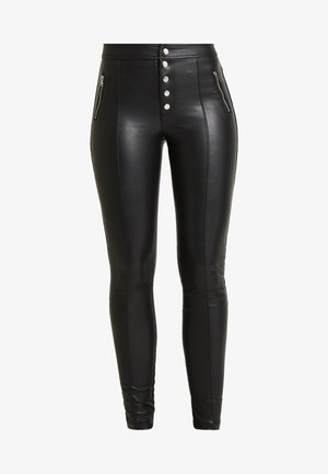 ONLSIGGA BUTTON PANT - Stoffhose - black