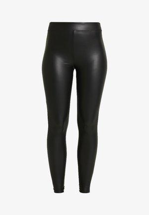 ONLCOOL COATED - Leggings - black