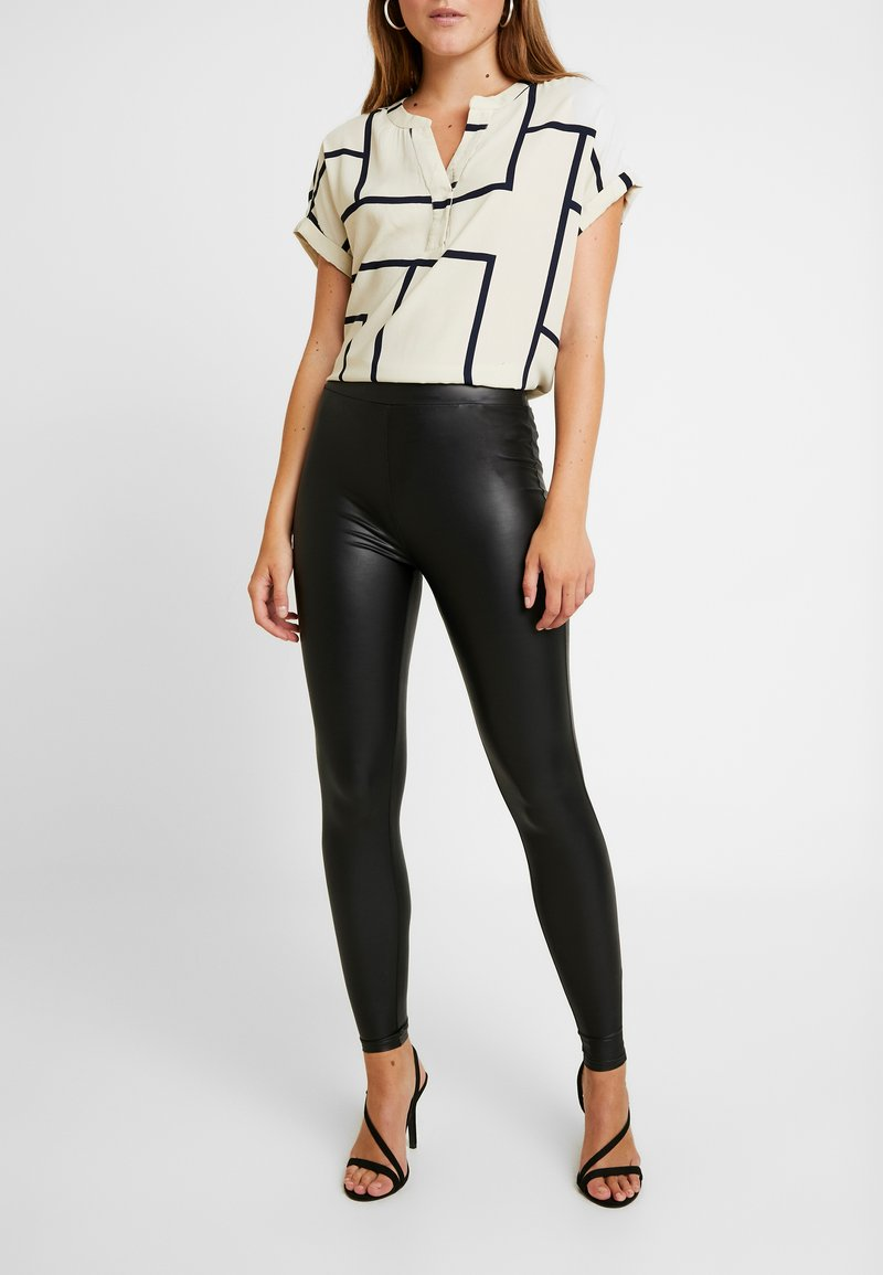 ONLY - ONLCOOL COATED - Leggings - Trousers - black