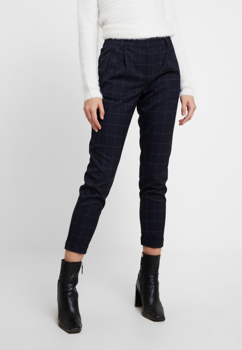 ONLY - ONLABBIE CHECK PANT - Trousers - night sky